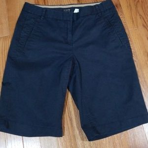 J Crew strech  navy Bermuda shorts
